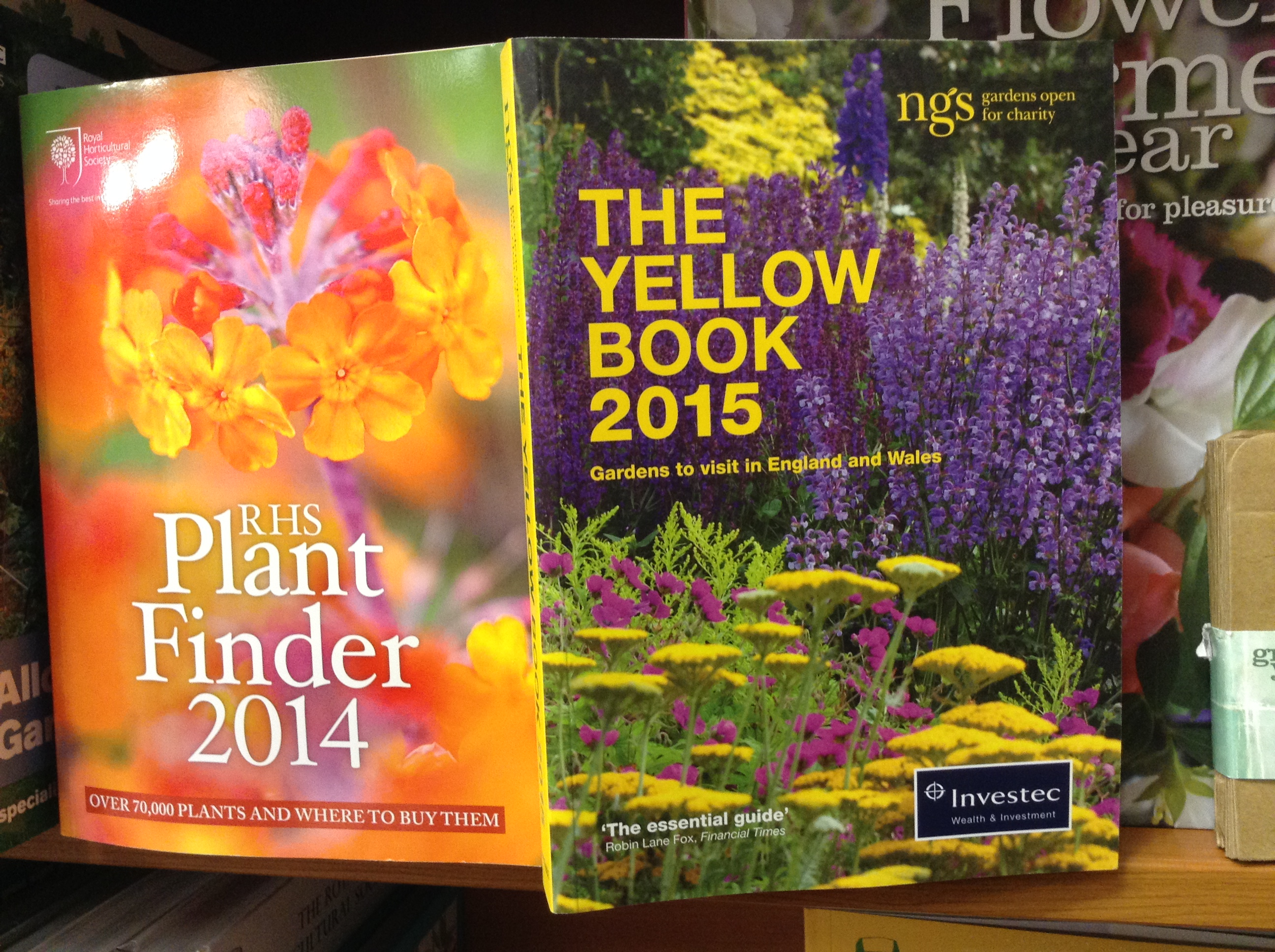 Finding places to visit - the Yellow Book and the Plant Finder