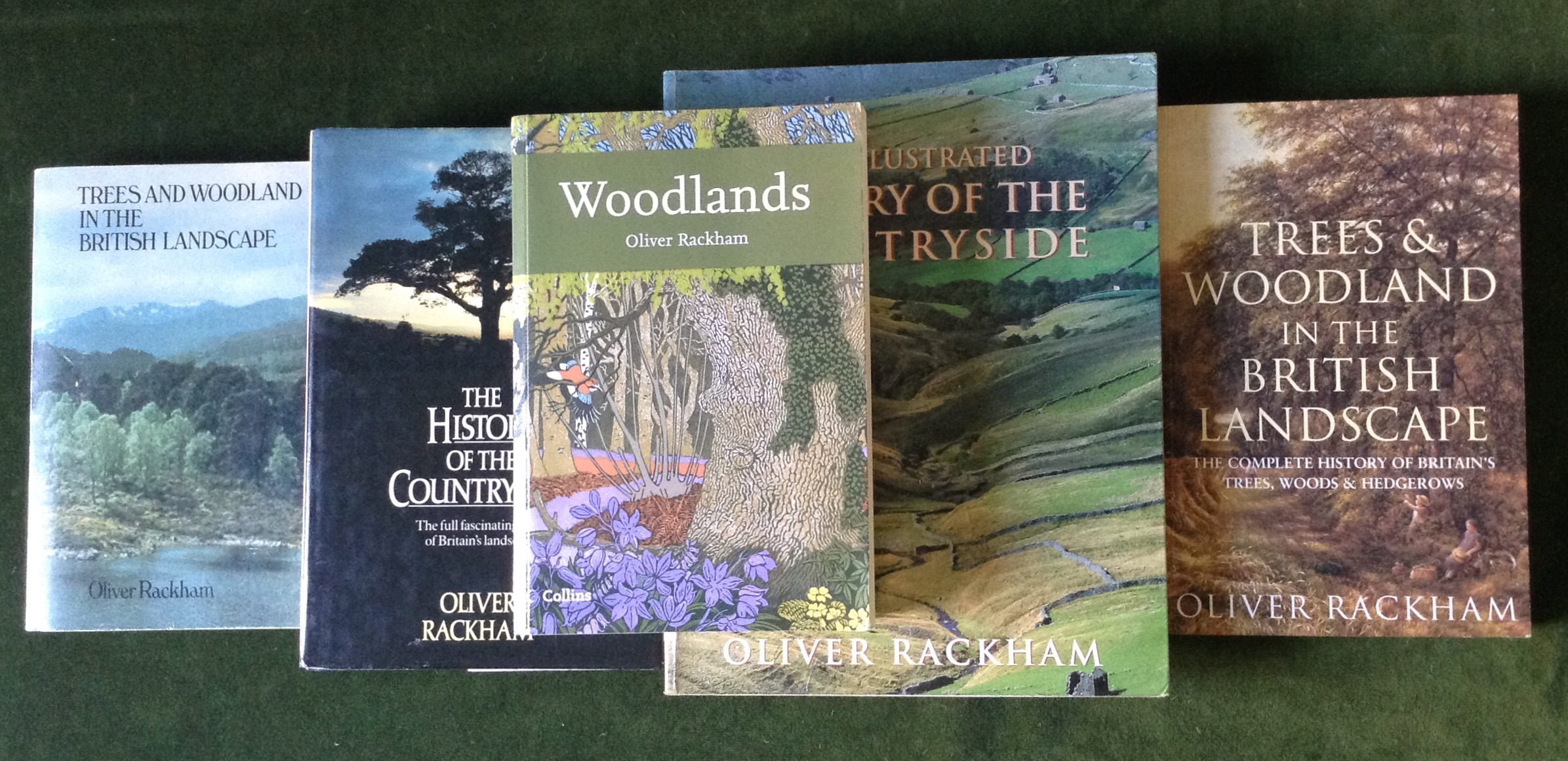 Books by Oliver Rackham, including the 100th Collins New Naturalist on Woodlands