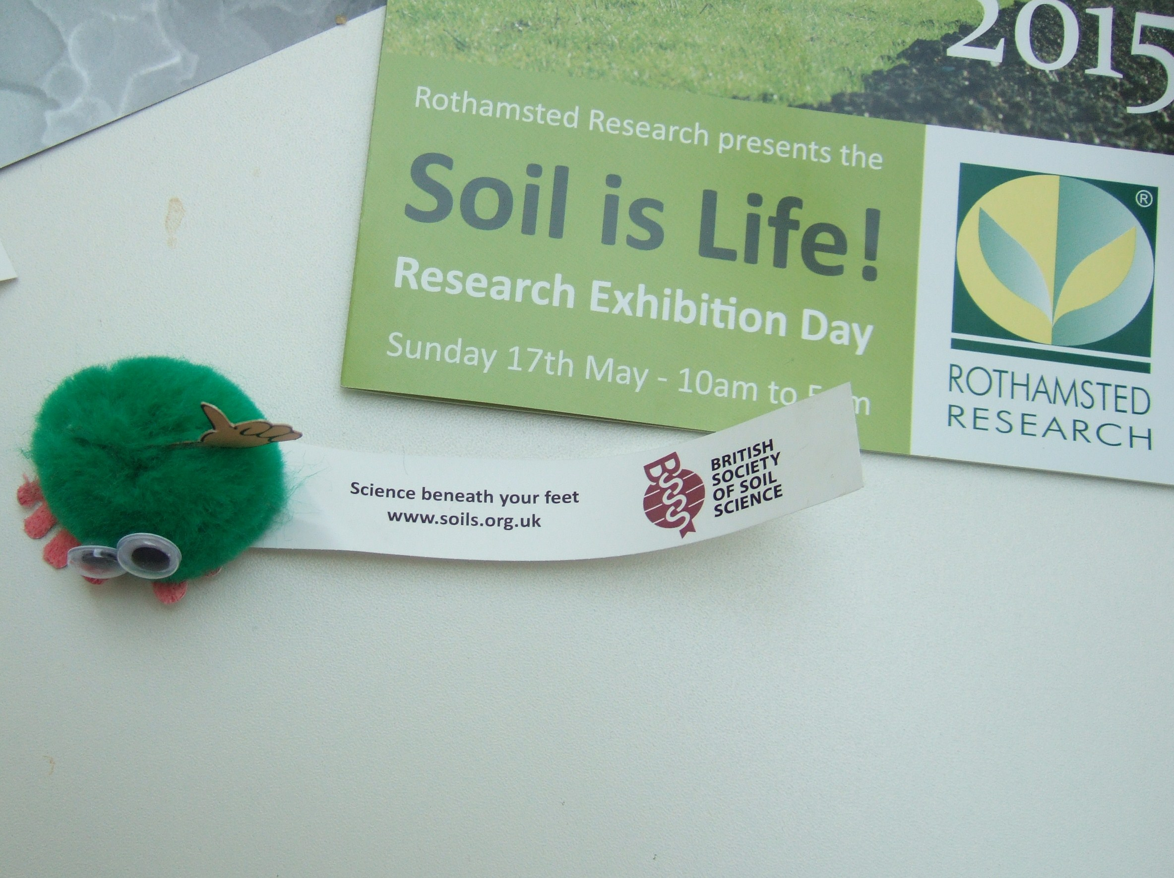 Soil is Life! flyers in Rothamsted cafe